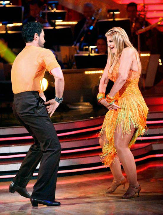 Kirstie Alley and her partner Maksim Chmerkovskiy dance a Samba and a Freestyle dance on week ten of 'Dancing With The Stars.' The judges gave the couple 27 out of 30 for their Samba and 27 points out of 30 for th