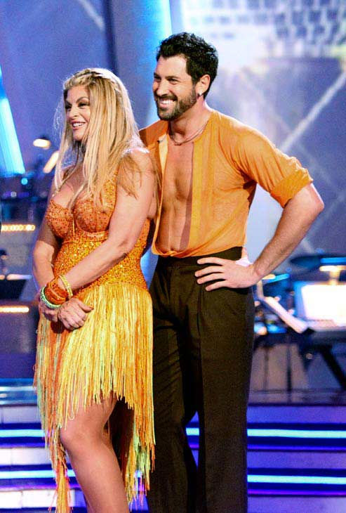 Kirstie Alley and her partner Maksim Chmerkovskiy dance a Samba and a Freestyle dance on week ten of 'Dancing With T