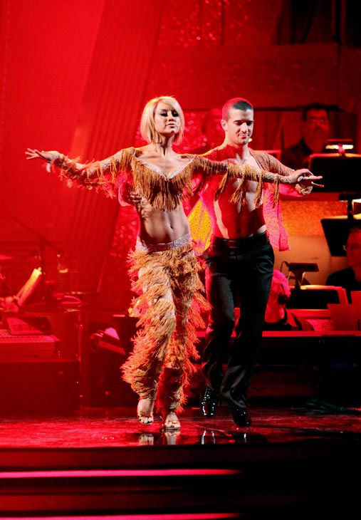 Chelsea Kane and her partner Mark Ballas dance a Samba and a Freestyle dance on week ten of 'Dancing With The Stars.' The judges gave the couple 29 out of 30 for their Samba and 30 points out of 30 for their Freestyle. The couple earned a total of