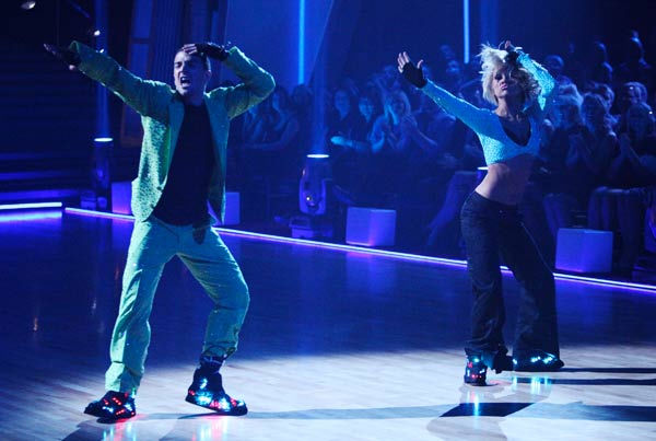 "<div class=""meta ""><span class=""caption-text "">Chelsea Kane and her partner Mark Ballas dance a Samba and a Freestyle dance on week ten of 'Dancing With The Stars.' The judges gave the couple 29 out of 30 for their Samba and 30 points out of 30 for their Freestyle. The couple earned a total of 59 out of 60.  (ABC Photo/ Adam Taylor)</span></div>"