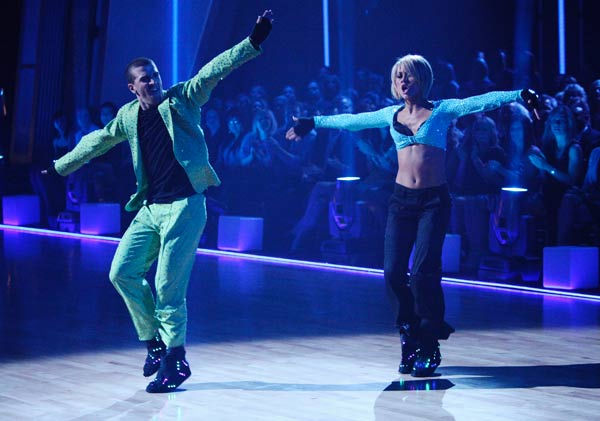 Chelsea Kane and her partner Mark Ballas dance a Samba and a Freestyle dance on week ten of &#39;Dancing With The Stars.&#39; The judges gave the couple 29 out of 30 for their Samba and 30 points out of 30 for their Freestyle. The couple earned a total of 59 out of 60.  <span class=meta>(ABC Photo&#47; Adam Taylor)</span>