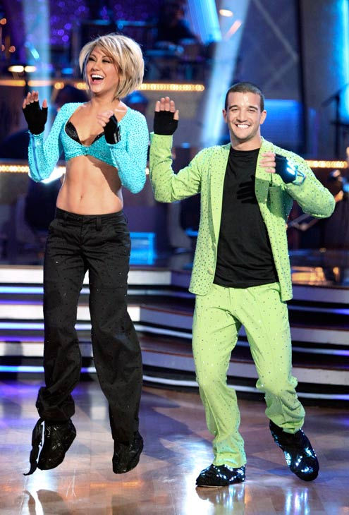 Chelsea Kane and her partner Mark Ballas dance a Samba and a Freestyle dance on week ten of 'Dancing With The Stars.' The judges gave the couple 29 out of 30 for their Samba and 30 points out of 30 for their Freestyle. The couple earned a total of 59 out