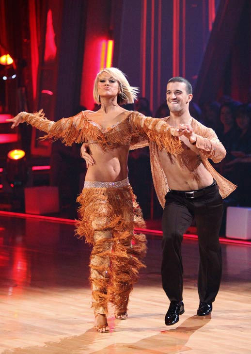 Chelsea Kane and her partner Mark Ballas dance a Samba and a Freestyle dance on week ten of 'Dancing With The Stars.' The judges gave the c