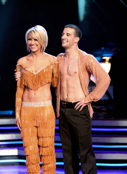 Chelsea Kane and her partner Mark Ballas dance a Samba and a Freestyle dance on week ten of 'Dan