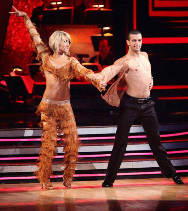 Chelsea Kane and her partner Mark Ballas dance a Samba and a Freestyle dance on week ten of 'Dancing With The Stars.' The judges gave the couple 29 out of 30 for their Samba and 30 points out of 30 f