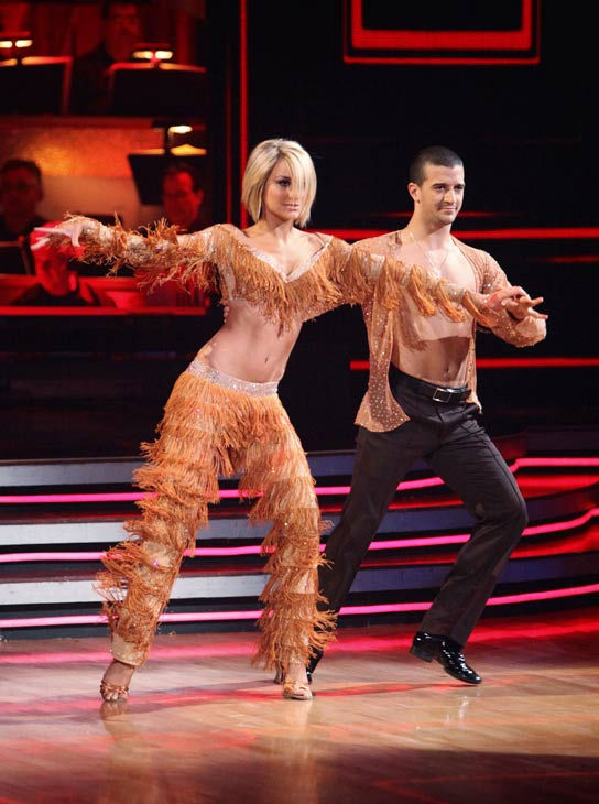 Chelsea Kane and her partner Mark Ballas dance a Samba and a Freestyle dance on week ten of 'Dancing With The Stars.' The judges gave the couple 29 out of 30 for their Samba and 30 point