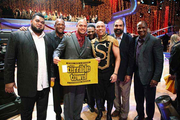 "<div class=""meta ""><span class=""caption-text "">Pittsburgh Steelers, Hines Ward, Franco Harris and Lynn Swann appear on 'Dancing With The Stars' on May 23, 2011. (ABC Photo/ Adam Taylor)</span></div>"