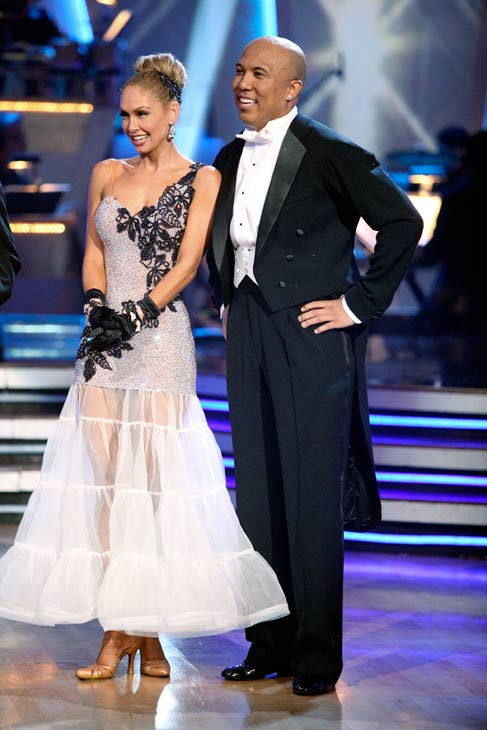 Hines Ward and his partner Kym Johnson dance a Quickstep and a Freestyle dance on week ten of 'Dancing With The Stars.' The judges gave the couple 29 out of 30 for their Quickstep and 30 points out of 30 for t