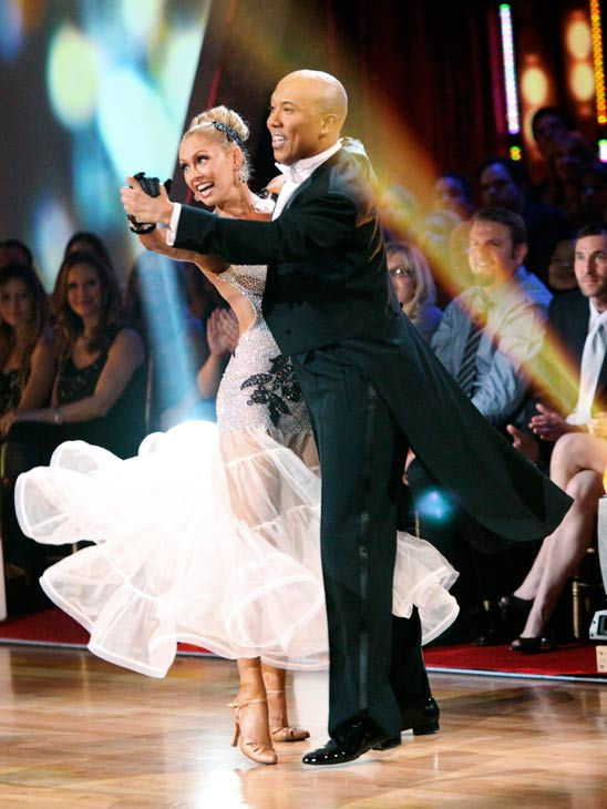 Hines Ward and his partner Kym Johnson dance a Quickstep and a Freestyle dance on week ten of 'Dancing With The Stars.' The judges gave the couple 29 out of 30 for their Quickstep and 30 points out of 30 for their