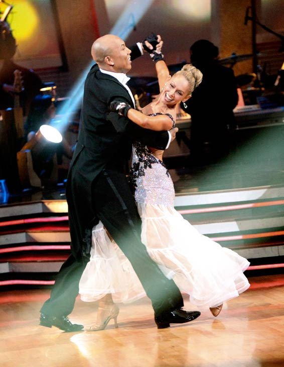 Hines Ward and his partner Kym Johnson dance a Quickstep and a Freestyle dance on week ten of 'Dancing With The Stars.' The judges gave the couple 29 out of 30 for their Quickstep and 30 points out of 30 for their Freestyle. The couple earned a tot