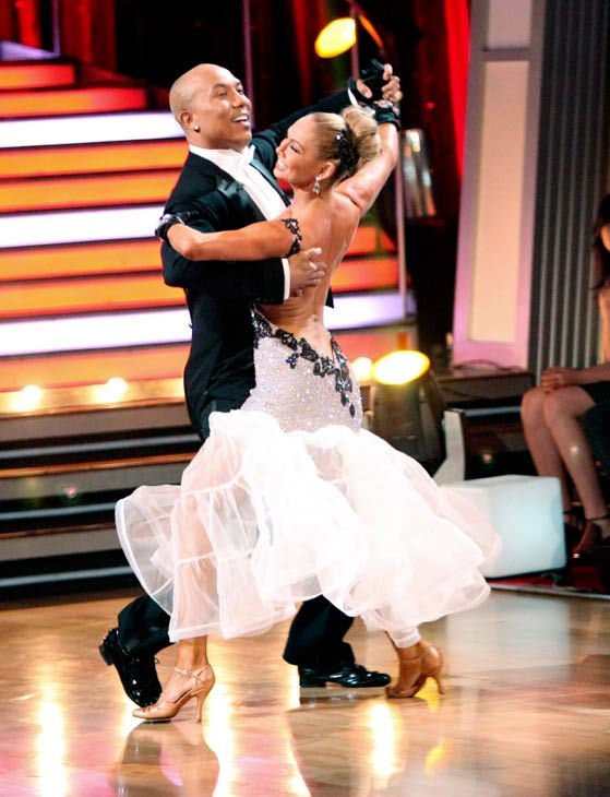 Hines Ward and his partner Kym Johnson dance a Quickstep and a Freestyle dance on week ten of 'Dancing With The Stars.' The judges gave the couple 29 out of 30 for their Quickstep and 30 points ou