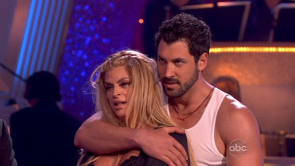 "<div class=""meta image-caption""><div class=""origin-logo origin-image ""><span></span></div><span class=""caption-text"">Kirstie Alley and her partner Maksim Chmerkovskiy dance a Samba and a Freestyle dance on week ten of 'Dancing With The Stars.' The judges gave the couple 27 out of 30 for their Samba and 27 points out of 30 for their Freestyle. The couple earned a total of 54 out of 60.  (OTRC Photo)</span></div>"