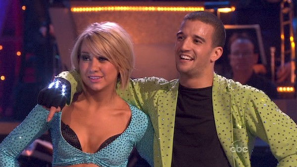 "<div class=""meta image-caption""><div class=""origin-logo origin-image ""><span></span></div><span class=""caption-text"">Chelsea Kane and her partner Mark Ballas dance a Samba and a Freestyle dance on week ten of 'Dancing With The Stars.' The judges gave the couple 29 out of 30 for their Samba and 30 points out of 30 for their Freestyle. The couple earned a total of 59 out of 60.  (OTRC Photo)</span></div>"
