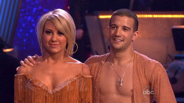 "<div class=""meta ""><span class=""caption-text "">Chelsea Kane and her partner Mark Ballas dance a Samba and a Freestyle dance on week ten of 'Dancing With The Stars.' The judges gave the couple 29 out of 30 for their Samba and 30 points out of 30 for their Freestyle. The couple earned a total of 59 out of 60.  (OTRC Photo)</span></div>"