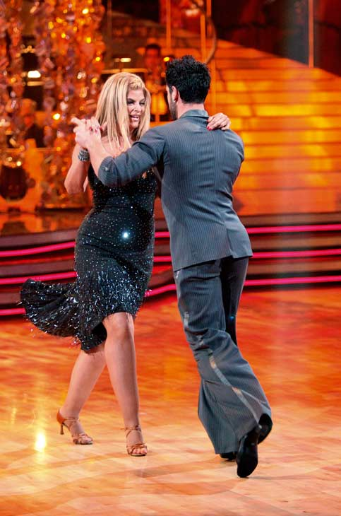 "<div class=""meta image-caption""><div class=""origin-logo origin-image ""><span></span></div><span class=""caption-text"">Kirstie Alley and her partner Maksim Chmerkovskiy performed their favorite dance -- a Cha Cha on Tuesday. The judges gave the couple 30 out of 30. With their scores from Monday, the couple earned a total of 84 out of 90. (OTRC Photo)</span></div>"