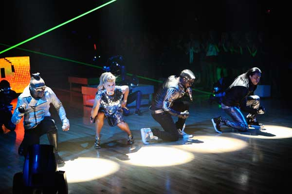 "<div class=""meta image-caption""><div class=""origin-logo origin-image ""><span></span></div><span class=""caption-text"">The Black Eyed Peas stopped by to perform their new single, 'Don't Stop the Party,' live on the 'Dancing With The Stars' season 12 finale on May 24, 2011. (OTRC Photo)</span></div>"