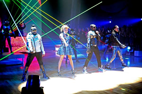 "<div class=""meta ""><span class=""caption-text "">The Black Eyed Peas stopped by to perform their new single, 'Don't Stop the Party,' live on the 'Dancing With The Stars' season 12 finale on May 24, 2011. (OTRC Photo)</span></div>"