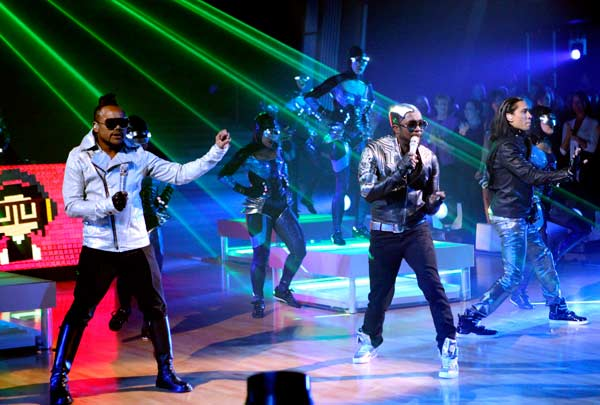 The Black Eyed Peas stopped by to perform their...