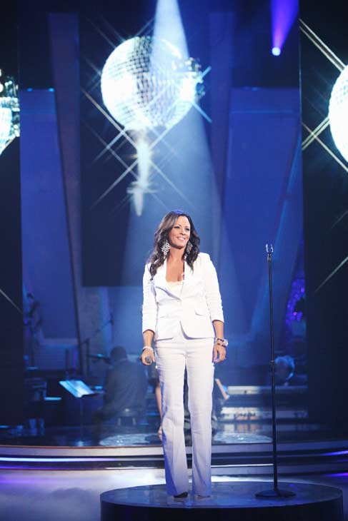 &#39;Dancing With The Stars&#39; Season 3 alum Sara Evans returned to the ballroom floor and performed her single, &#39;A Little Bit Stronger&#39; on the &#39;Dancing With The Stars&#39; season 12 finale on May 24, 2011. <span class=meta>(OTRC Photo)</span>