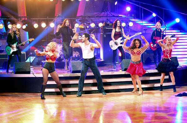 "<div class=""meta ""><span class=""caption-text "">The Go-Go's had their first television performance together in over five years on Tuesday night's 'Dancing With The Stars' season 12 finale on May 24, 2011. The group performed 'We Got the Beat' as part of Macy's Design-a-Dance fan favorite Jive song pick. (OTRC Photo)</span></div>"