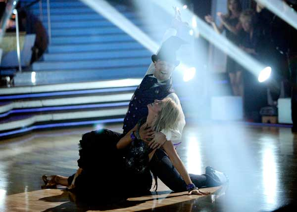 Chelsea Kane and her partner Mark Ballas performed their favorite dance -- their wizard inspired Viennese Waltz on Tuesday. The judges gave the couple 30 out of 30. With their scores from Monday, the couple earned a total of 89 out of 90. <span class=meta>(OTRC Photo)</span>
