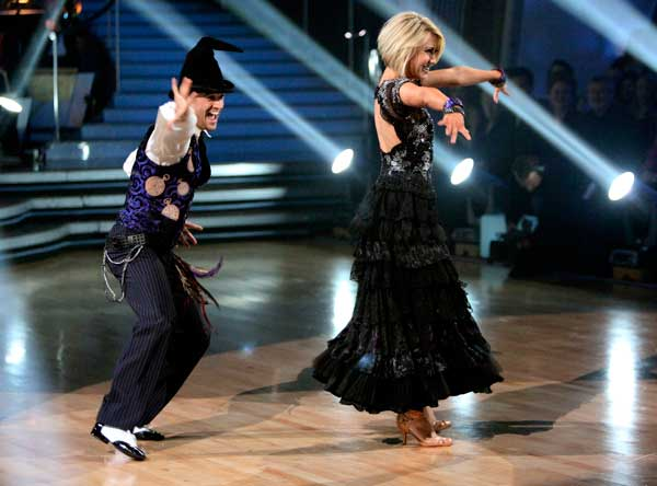 Chelsea Kane and her partner Mark Ballas performed their favorite dance -- their wizard inspired Viennese Waltz on Tuesday. The judges gave the couple 30 out of 30. With their scores from Monday, the couple earned a total of 89 out of 90.