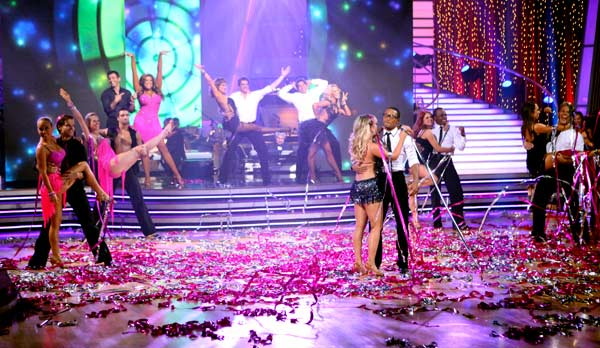 "<div class=""meta ""><span class=""caption-text "">Each of this season's 11 couples returned to the dance floor for a special performance on the season 12 finale on May 24, 2011.  (OTRC Photo)</span></div>"