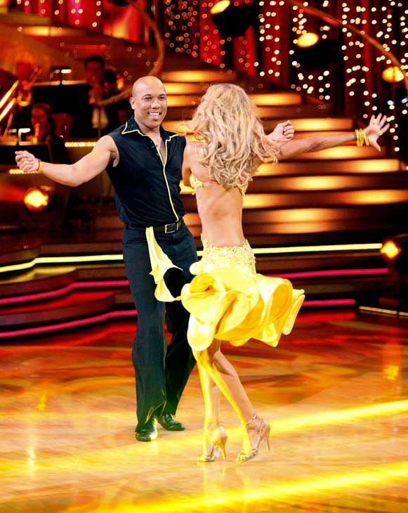 Hines Ward and his partner Kym Johnson performed their favorite dance -- a Samba on Tuesday. The judges gave the couple 30 out of 30. With their scores from Monday, the couple earned a total of 89 out of 90. <span class=meta>(OTRC Photo)</span>
