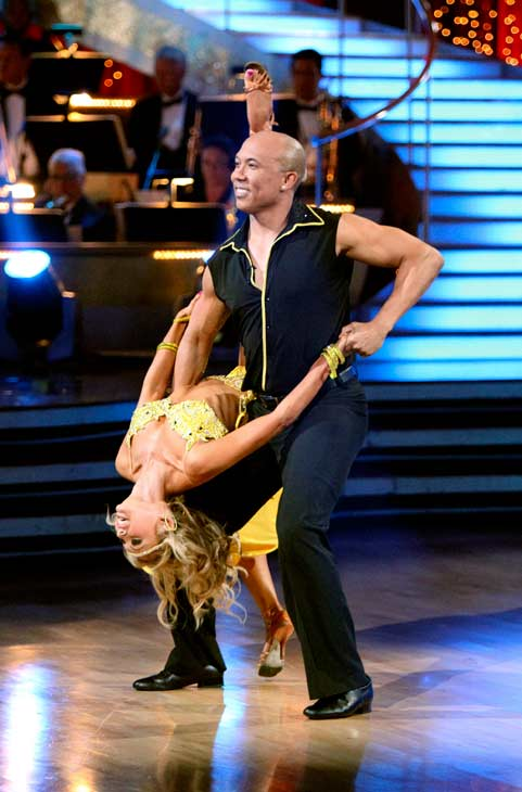 Hines Ward and his partner Kym Johnson performed...