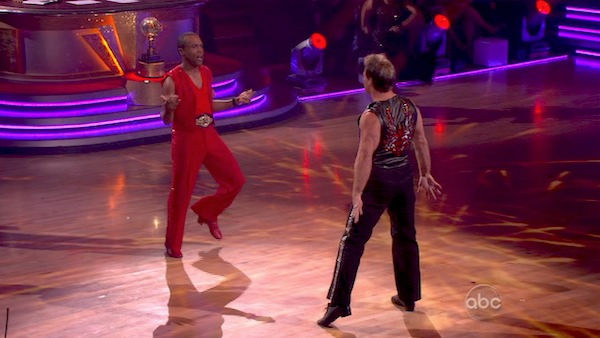 "<div class=""meta ""><span class=""caption-text "">Sugar Ray Leonard and Chris Jericho returned to the 'Dancing With The Stars' dance floor on the season 12 finale on May 24, 2011. (OTRC Photo)</span></div>"