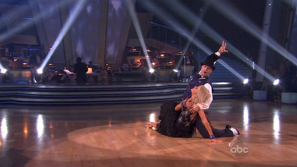 "<div class=""meta image-caption""><div class=""origin-logo origin-image ""><span></span></div><span class=""caption-text"">Chelsea Kane and her partner Mark Ballas performed their favorite dance -- their wizard inspired Viennese Waltz on Tuesday. The judges gave the couple 30 out of 30. With their scores from Monday, the couple earned a total of 89 out of 90. (OTRC Photo)</span></div>"