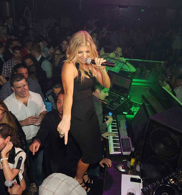 Fergie of The Black Eyed Peas performs at Haze...