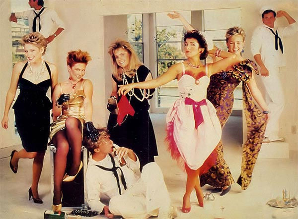The Go-Gos appear in an undated group photo from...