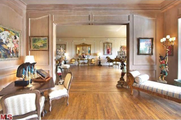 A view of Zsa Zsa Gabor's 4-bedroom, 5.5...