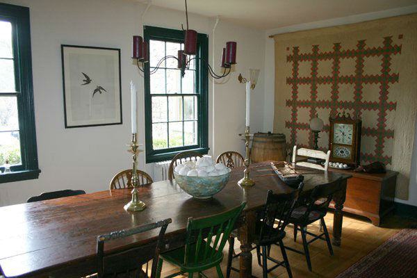 The dining room in the five-bedroom home...