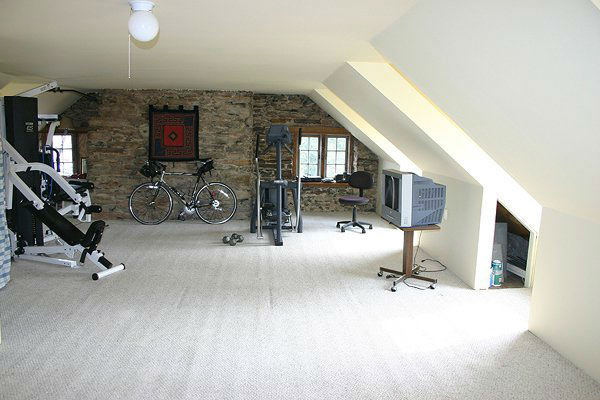 The gym in the five-bedroom home featured in the...