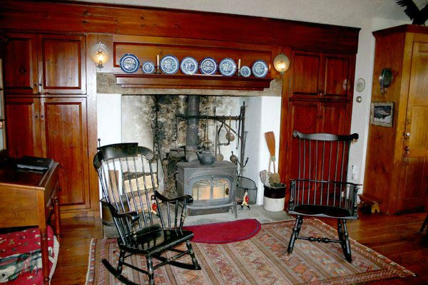 The hearth in the five-bedroom home featured in the movie