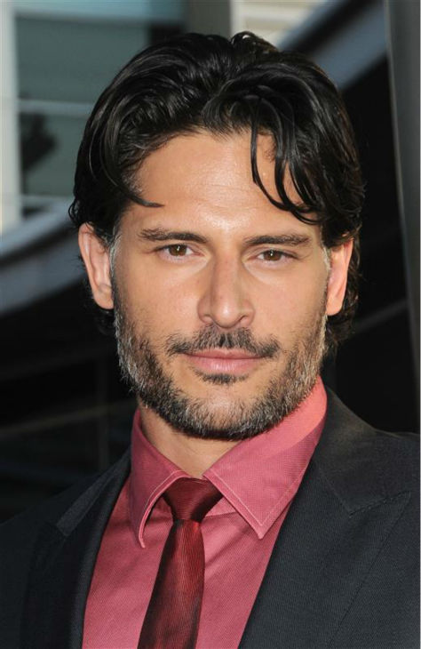 The &#39;Wearing-Blush-Makes-Us-Blush&#39; stare: Joe Manganiello appears at the premiere of season 4 of &#39;True Blood&#39; in Hollywood, California on June 21, 2011. He plays the werewolf Alcide Herveaux on the HBO series. <span class=meta>(Sara De Boer &#47; Startraksphoto.com)</span>