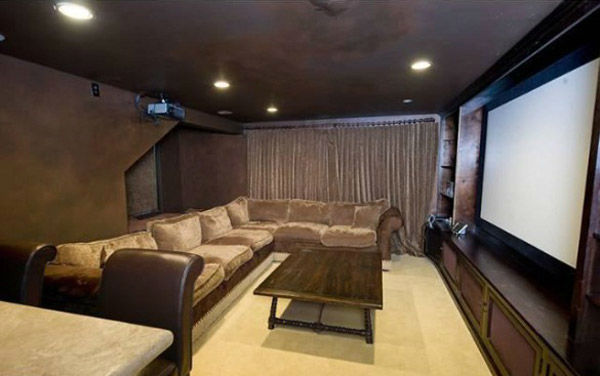 The screening room at Katy Perry and Russell Brand&#39;s Hollywood Hills home. The seven-bedroom, nine bathroom house is 8,835 square feet and was purchased by the couple for &#36;6.5 million. <span class=meta>(Photo&#47;Realtor.com)</span>