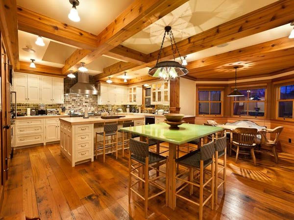"<div class=""meta image-caption""><div class=""origin-logo origin-image ""><span></span></div><span class=""caption-text"">The kitchen in Jerry Seinfeld's mansion in Telluride, Colorado which has 11 bedrooms, 11 bathrooms, mountain views and a creek and is on the market for $18 million. (Photo/SothebysRealty.com)</span></div>"