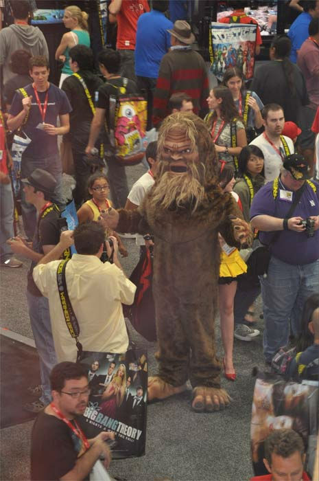 A fan dresses up in a costume at Comic-Con in San Diego on Wednesday, July 20, 2011. <span class=meta>(OTRC Photo)</span>