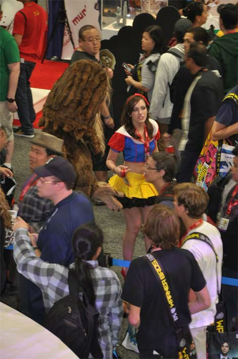 Snow White was just one of the costumes seen at Comic-Con in San Diego on Wednesday, July 20, 2011.