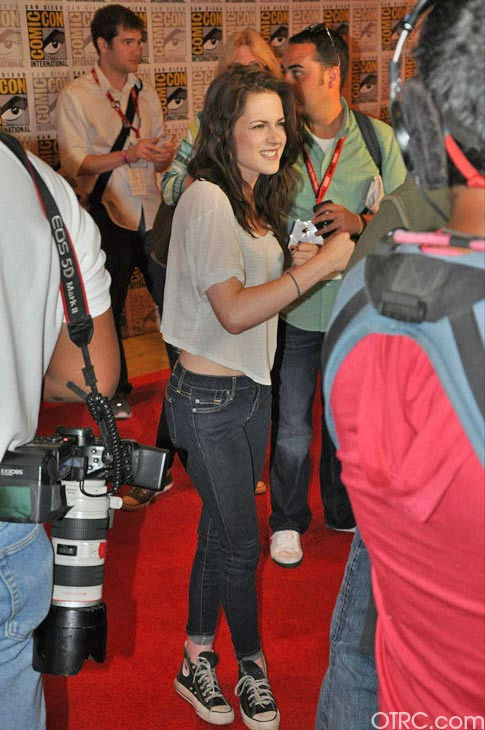 "<div class=""meta ""><span class=""caption-text "">Kristen Stewart from 'The Twilight Saga' appears in a photo at Comic-Con in San Diego on Thursday, July 21, 2011. (OTRC Photo)</span></div>"