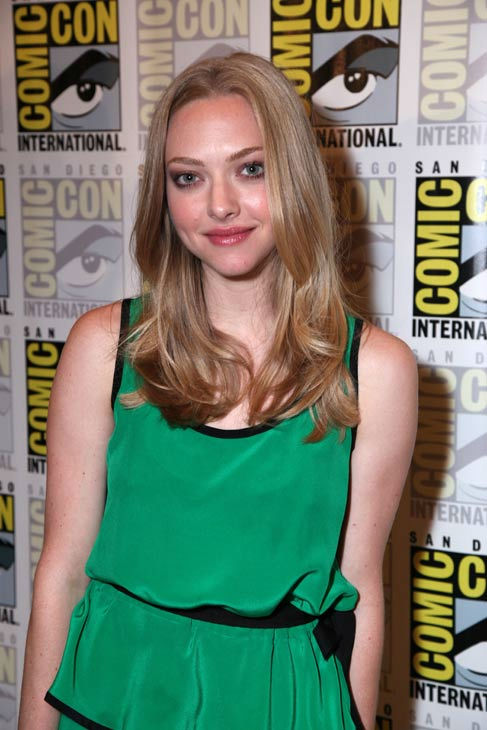 &#39;InTime&#39; star Amanda Seyfried poses for photos at her press conference at Comic Con in San Diego, CA on Thursday July 21, 2011. <span class=meta>(Alex J. Berliner&#47;ABImages)</span>