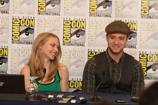 "<div class=""meta ""><span class=""caption-text "">'InTime'  co-stars Amanda Seyfried and Justin Timberlake answer questions at their press conference at Comic Con in San Diego, CA on Thursday July 21, 2011. (Alex J. Berliner/ABImages)</span></div>"