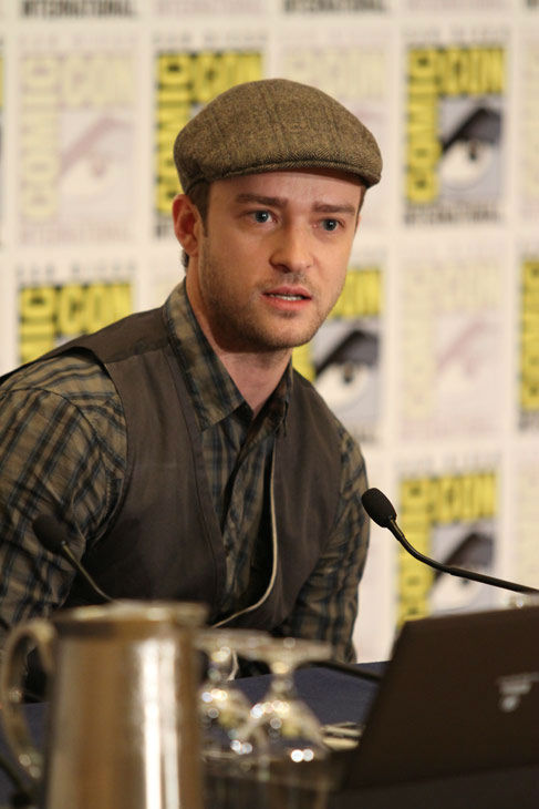 &#39;In Time&#39; star Justin Timberlake answers questions at a press conference at Comic Con in San Diego, CA on Thursday July 21, 2011. <span class=meta>(Alex J. Berliner&#47;ABImages)</span>