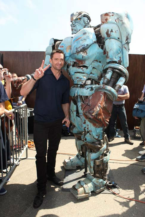 Hugh Jackman from &#39;Real Steel&#39; appears in a photo at Comic-Con in San Diego on Thursday, July 21, 2011. <span class=meta>(DreamWorks)</span>