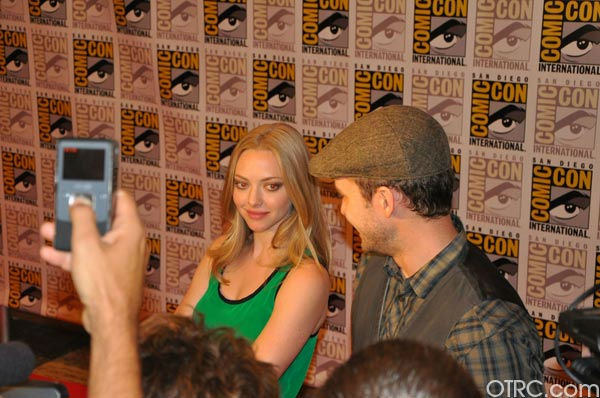 Justin Timberlake and Amanda Seyfried appear in a photo at Comic-Con in San Diego on Thursday, July 21, 2011. <span class=meta>(OTRC Photo)</span>