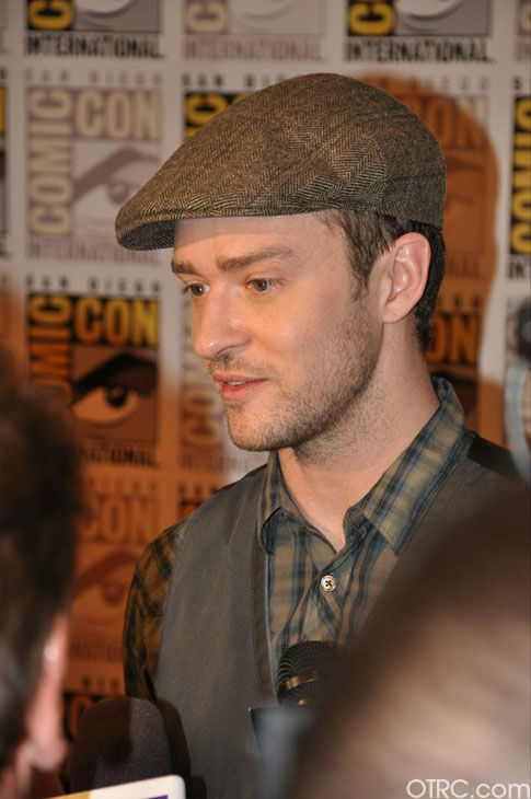 "<div class=""meta image-caption""><div class=""origin-logo origin-image ""><span></span></div><span class=""caption-text"">Justin Timberlake from 'In Time' appears in a photo at Comic-Con in San Diego on Thursday, July 21, 2011. (OTRC Photo)</span></div>"