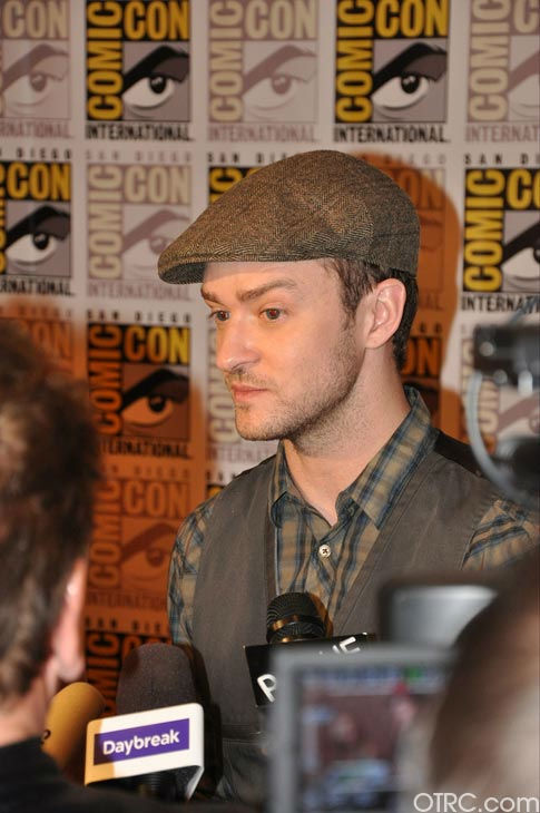 "<div class=""meta ""><span class=""caption-text "">Justin Timberlake from 'In Time' appears in a photo at Comic-Con in San Diego on Thursday, July 21, 2011. (OTRC Photo)</span></div>"